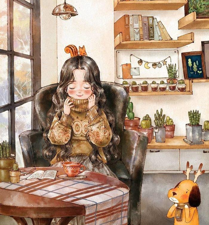 20 ilustrações que mostram o lado bom de estar sozinho