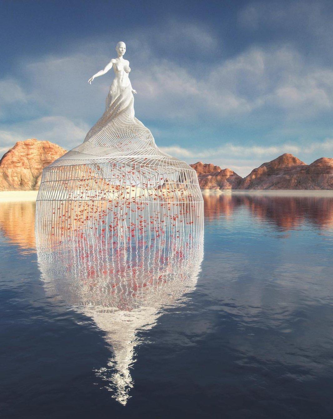 10 esculturas digitais surreais que parecem de verdade