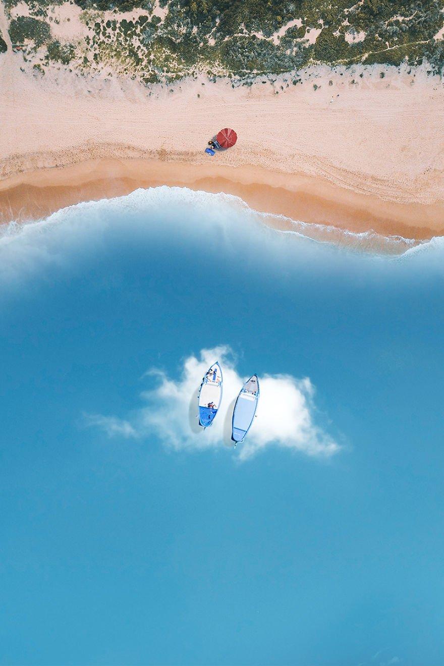 Como seria o mar se ele fosse feito de nuvens?
