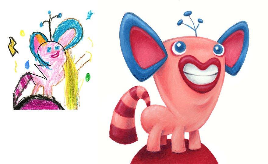 Ilustrador recria monstros desenhados por crianças