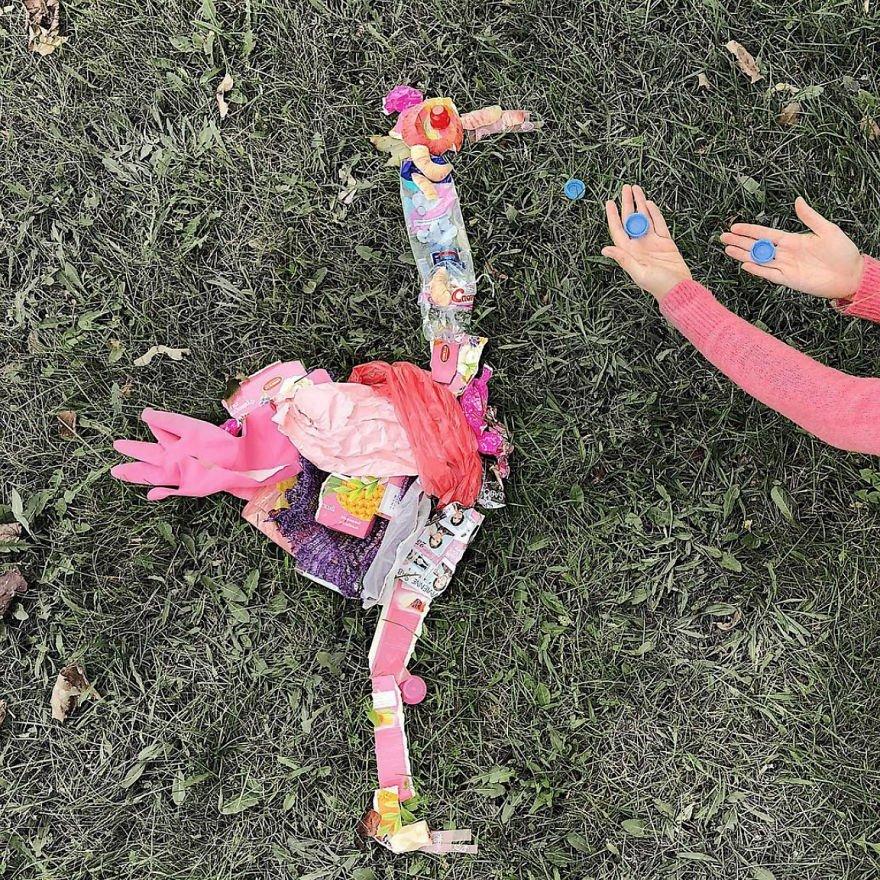 Estas esculturas de animais feitas de lixo nos mostram uma triste realidade