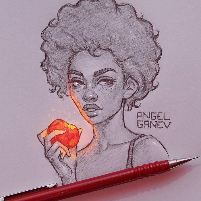 Este artista faz incríveis ilustrações que parecem estar brilhando