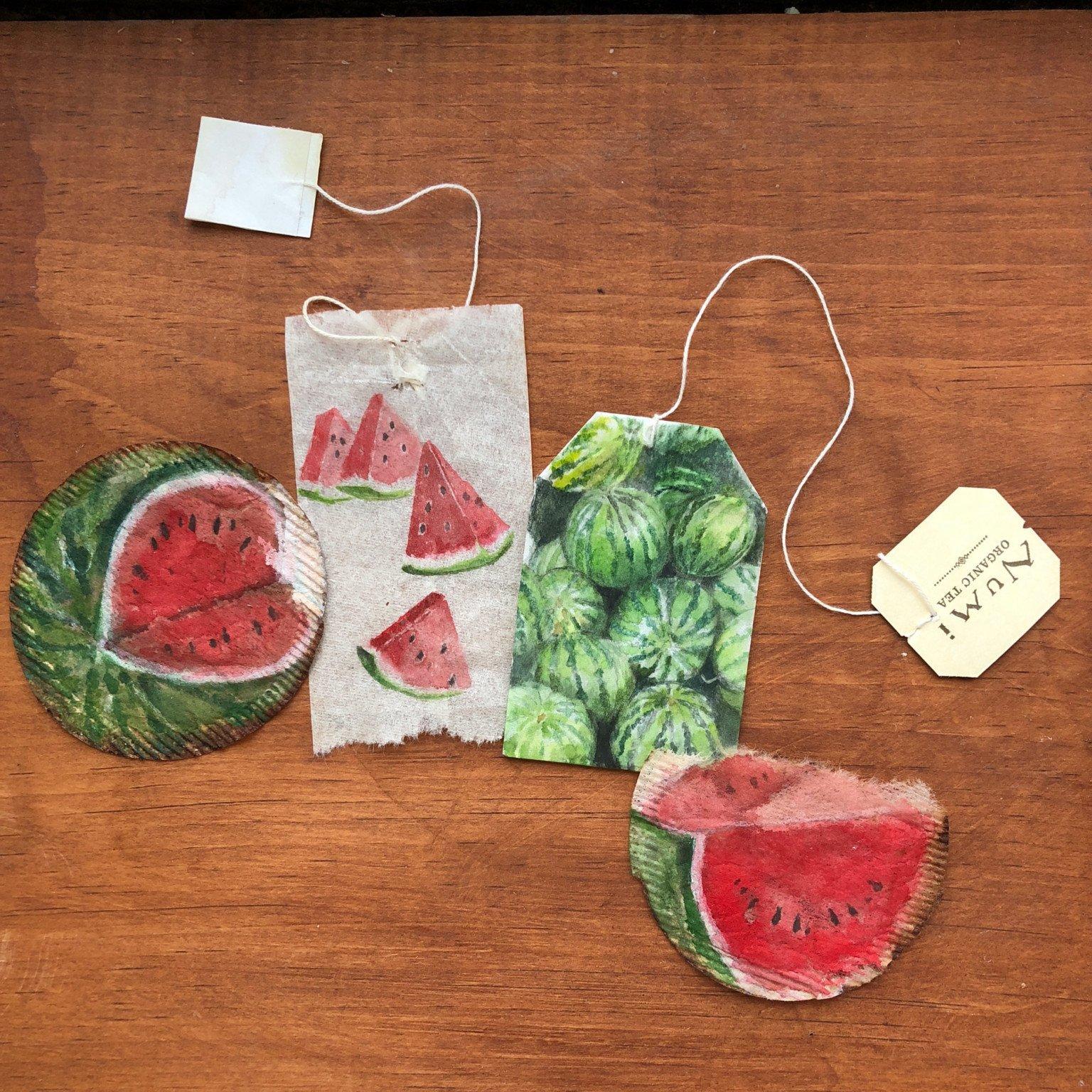 Artista transforma saquinhos de chá em verdadeiras obras de arte