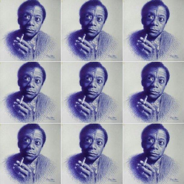 Artista nigeriano faz retratos realistas apenas com caneta azul - Mega  Curioso
