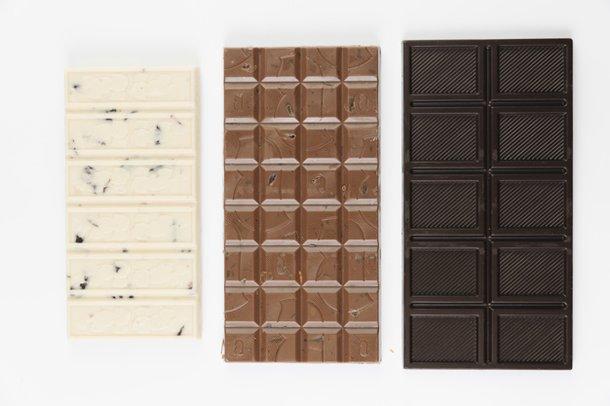 Chocolate Branco, Chocolate ao Leite e Chocolate Amargo