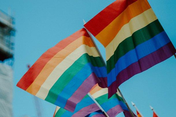 A bandeira do orgulho LGBTQIA+ costuma carregar as corres do arco-íris (Imagem: Unsplash)