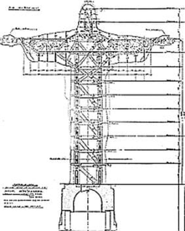 Projeto do Cristo Redentor (Fonte: Diário do Rio/ Reprodução)