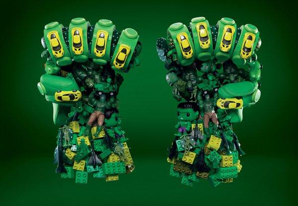 Hipermercado transforma objetos comuns em personagens de 'Os Vingadores'
