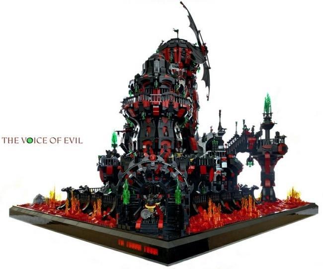 The Voice of Evil: confira esta impressionante fortaleza de LEGO [galeria]