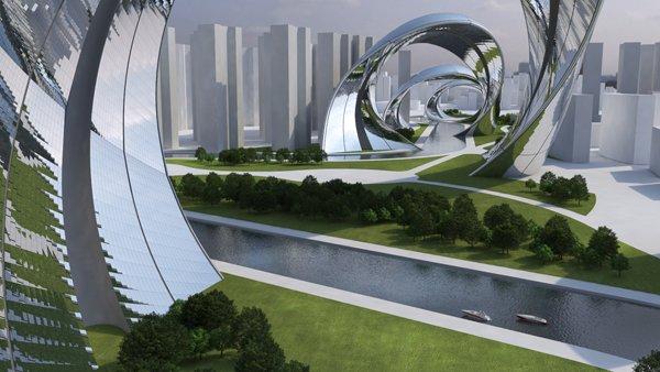 Sity: estrutura inspirada em dragão embala rio de Shangai