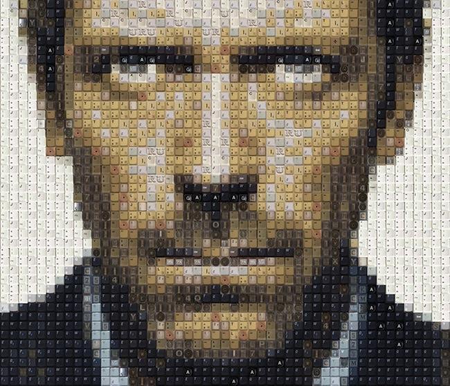 Confira os incríveis retratos feitos com caracteres de teclados [galeria]