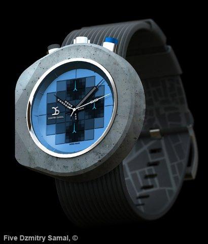 Brutalist Watch: o relógio de pulso feito de concreto