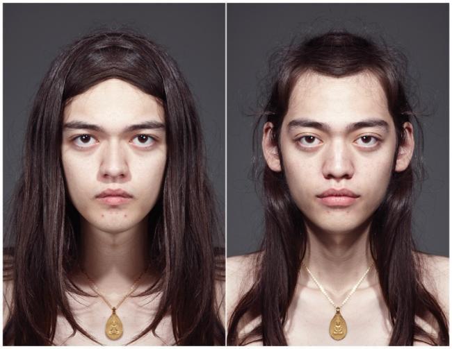 Fotógrafo cria versões simétricas dos rostos de modelos [galeria]