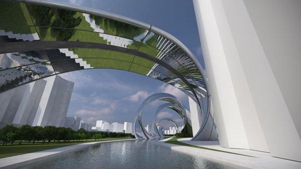 Conheça o projeto impressionante de um prédio em forma de espiral