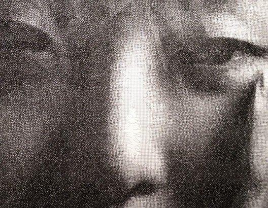 Artista cria retratos surpreendentes com fios de malha