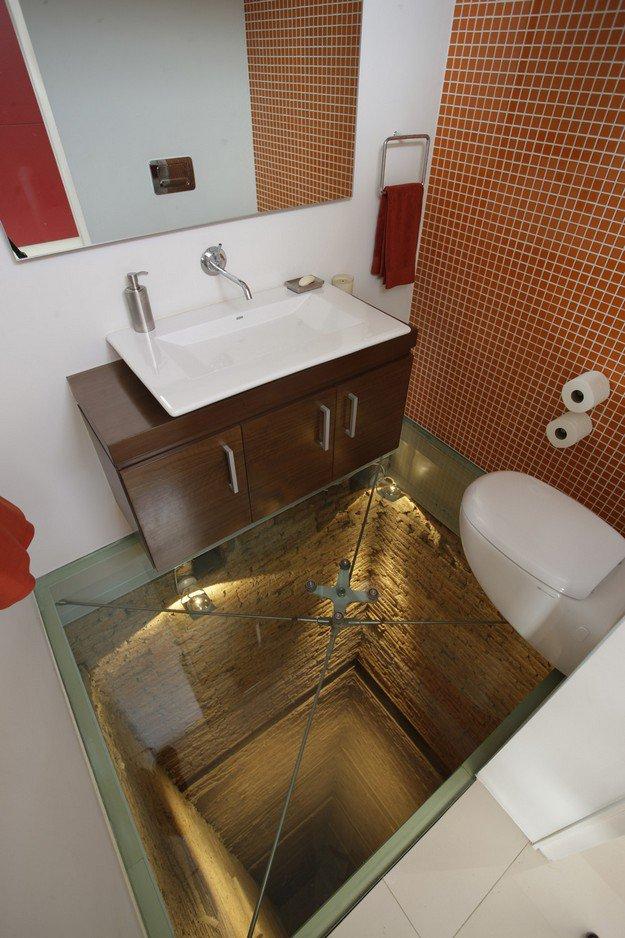 Conheça o banheiro para quem não tem medo de altura