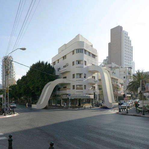 Fotógrafo transforma edifícios em estruturas que desafiam as leis da física