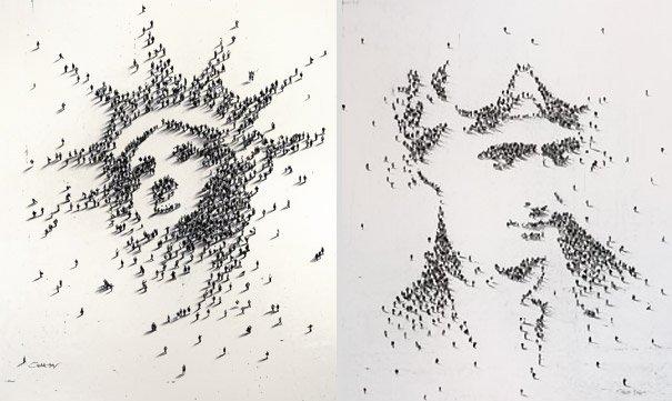 Pixels humanos: confira a incrível arte feita com multidões [galeria]