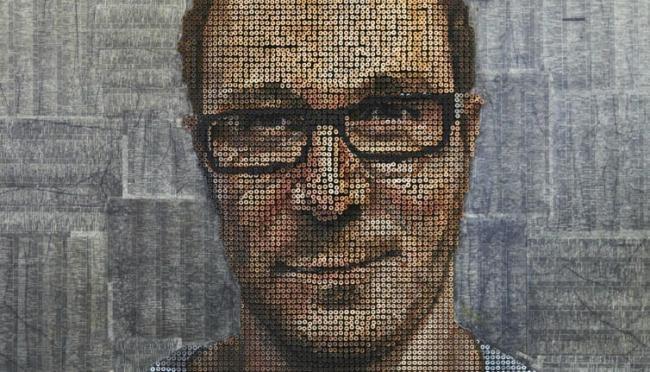 Artista cria retratos tridimensionais feitos com parafusos