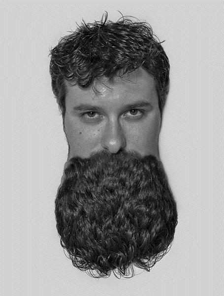 Frente e verso: fotógrafo transforma cabelos em barbas [galeria]