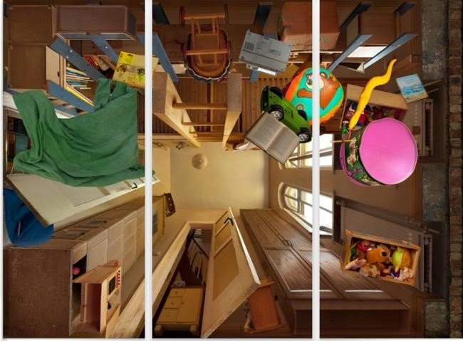 Artista alemão tira fotos de cômodos em uma perspectiva pra lá de inusitada