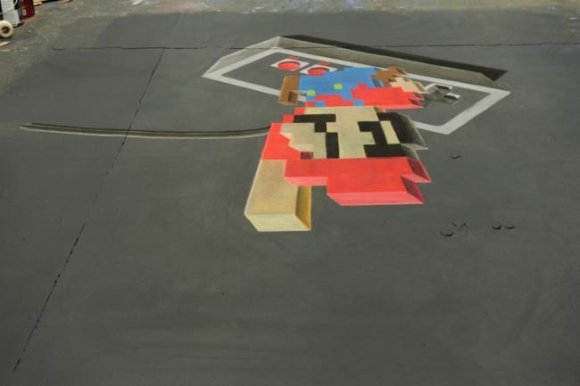 Confira como é feita a arte de rua 3D que engana os seus olhos