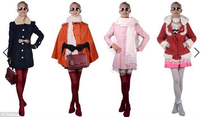 Vovô chinês posa vestido de menina e vira sucesso na internet