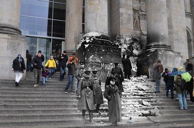 Fotos incríveis misturam a Europa da Segunda Guerra com a de hoje