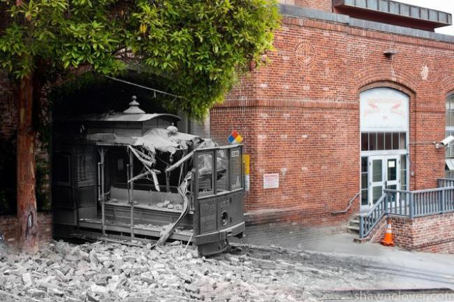 Fotos misturam passado e presente de cidade devastada há mais de um século